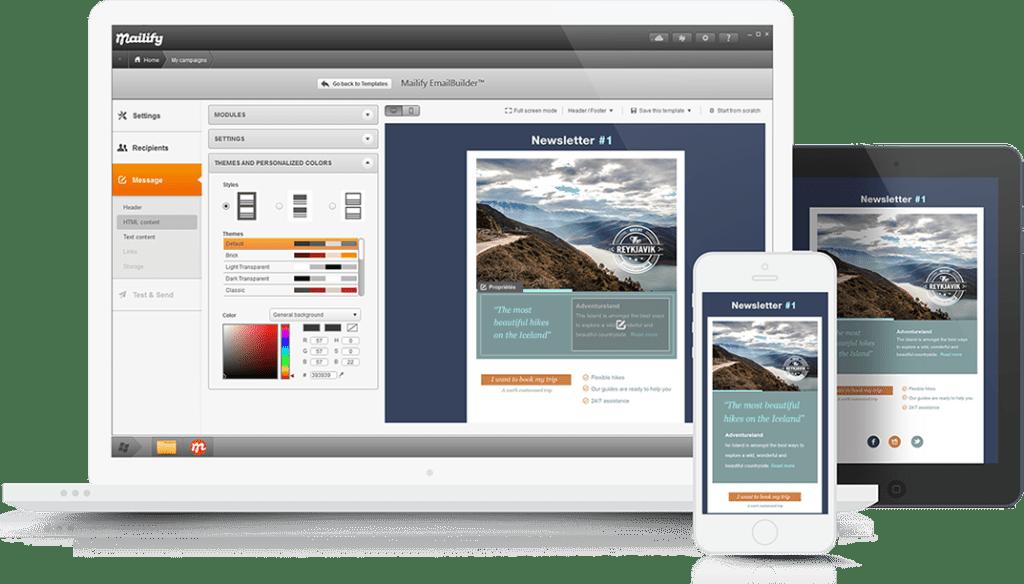 Mailify cuenta con más de 900 plantillas en versión desktop y responsive de descarga gratuita.