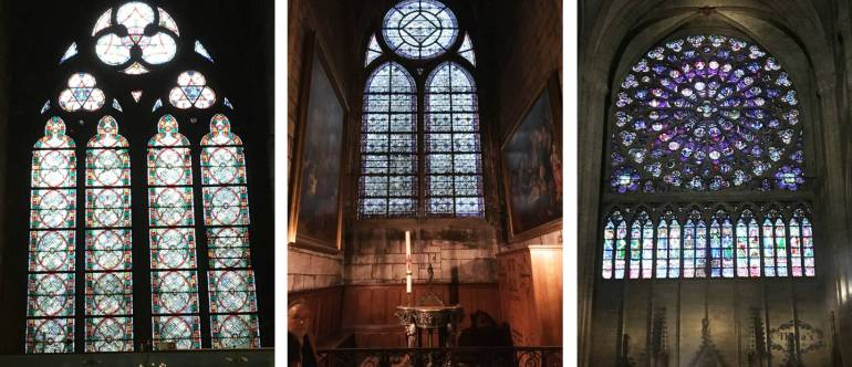 Notredame glass paintings