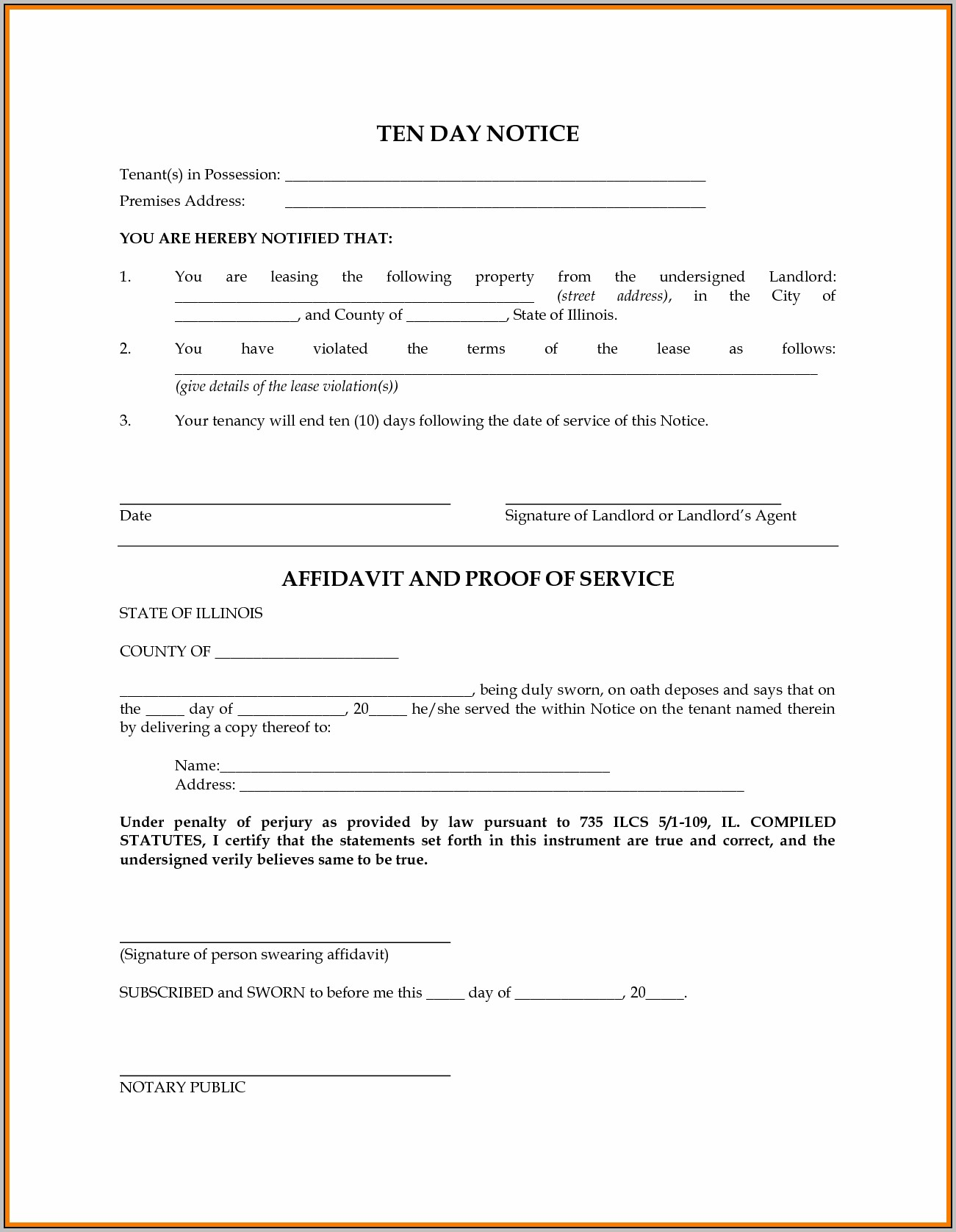 Eviction Notice Form Alberta