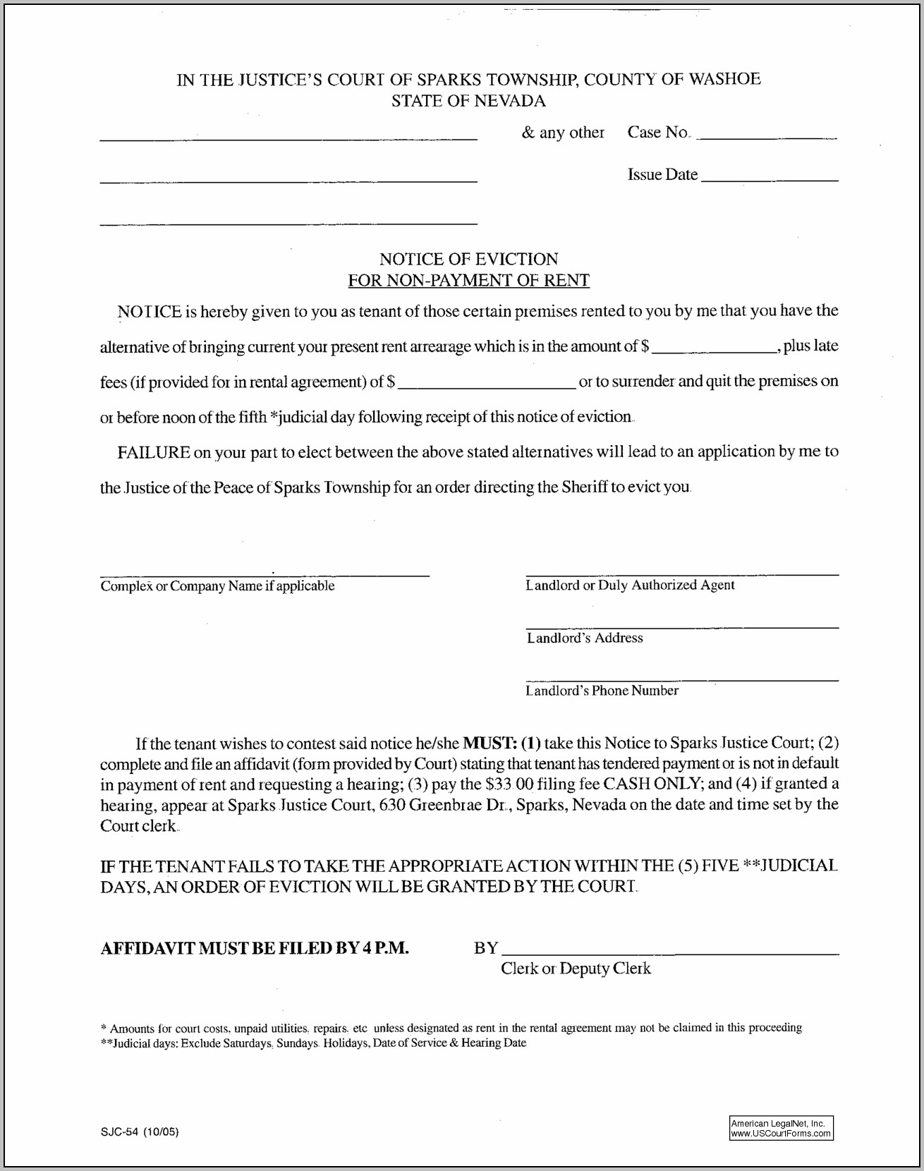 Eviction Notice Form New York State