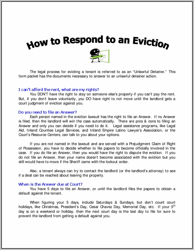 Eviction Notice Form San Bernardino County