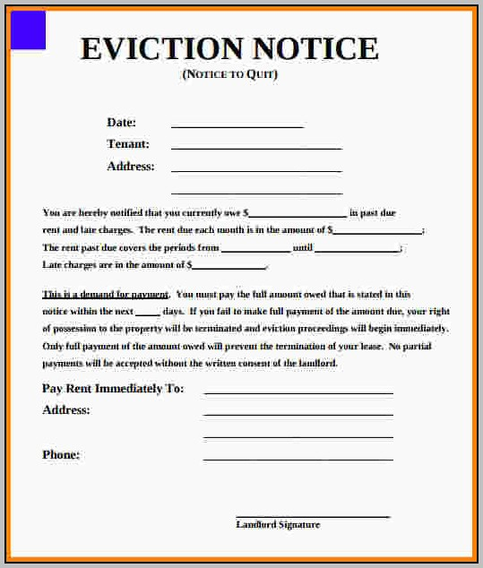 Eviction Notice Template Alabama