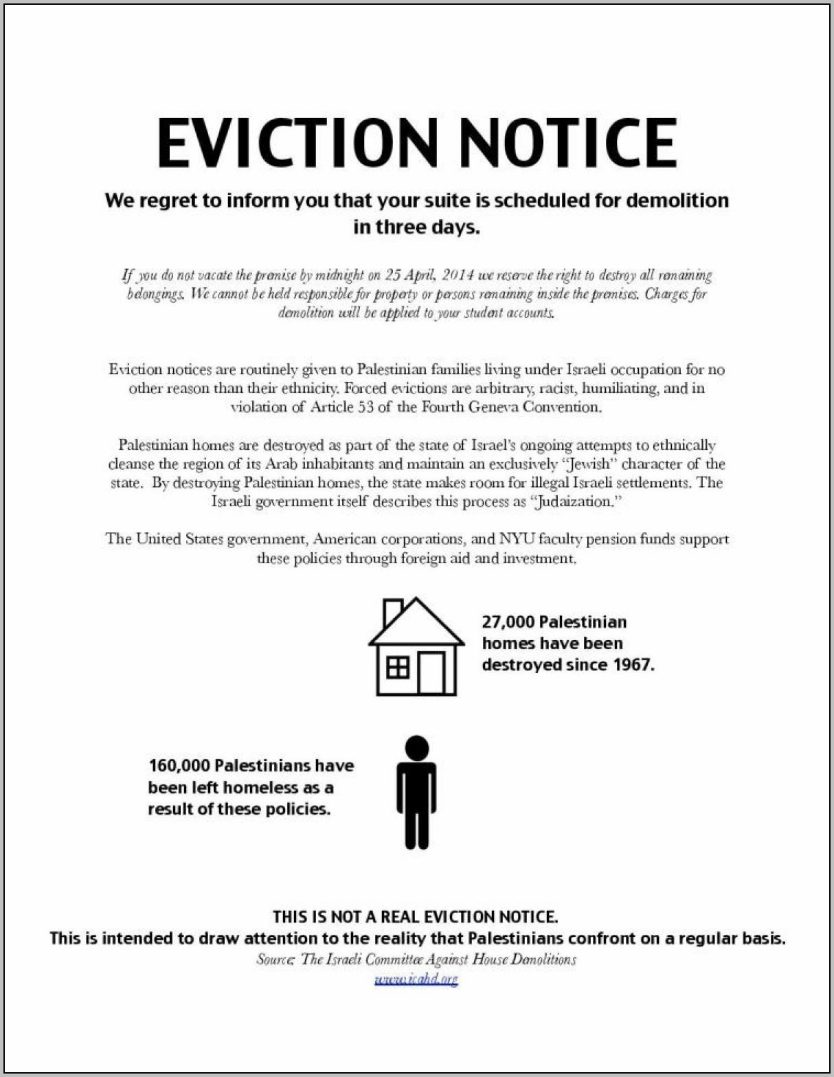 Eviction Notice Template Ct