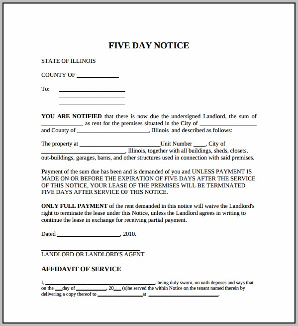 Eviction Notice Template For Texas