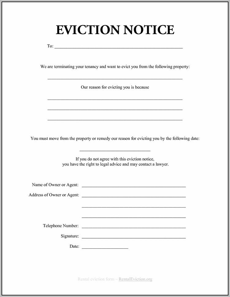 Eviction Notice Template For Virginia