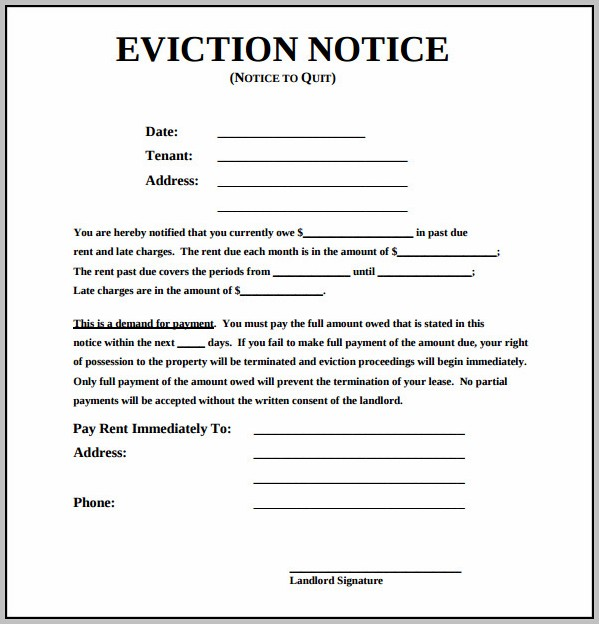 Eviction Notice Template Indiana