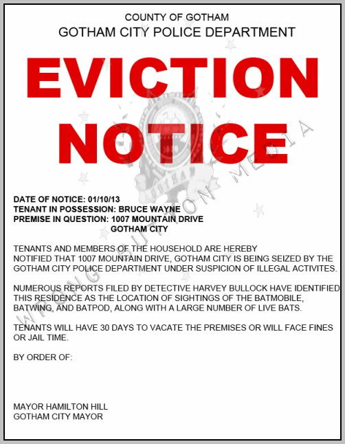 Eviction Notice Template New Jersey