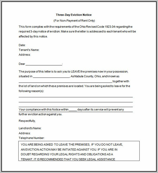 Eviction Notice Template Ontario Free