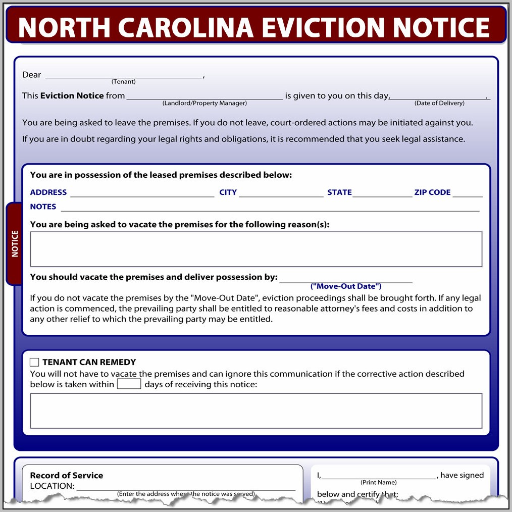 Eviction Notice Template Ontario