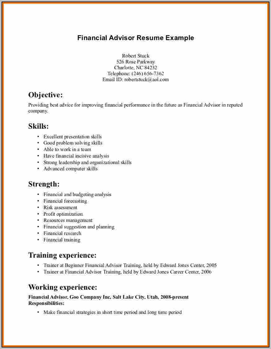 Financial Advisor Cover Letter Template