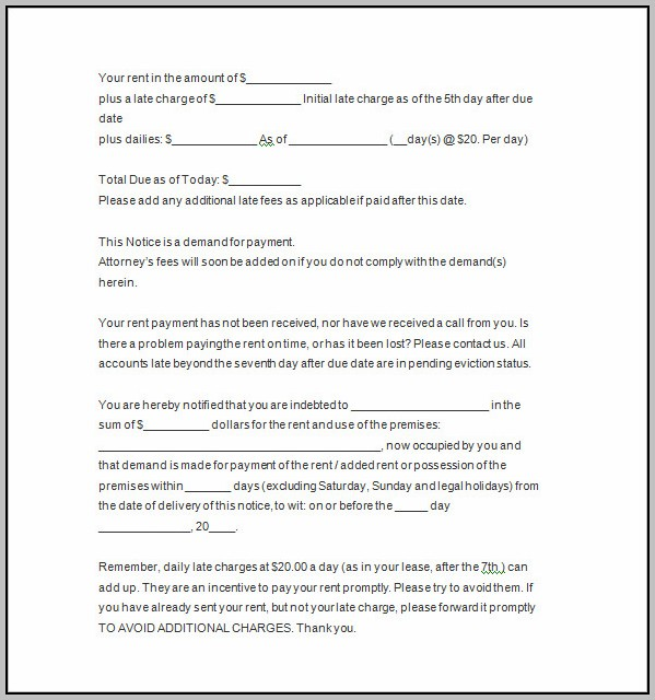 Free 5 Day Eviction Notice Template
