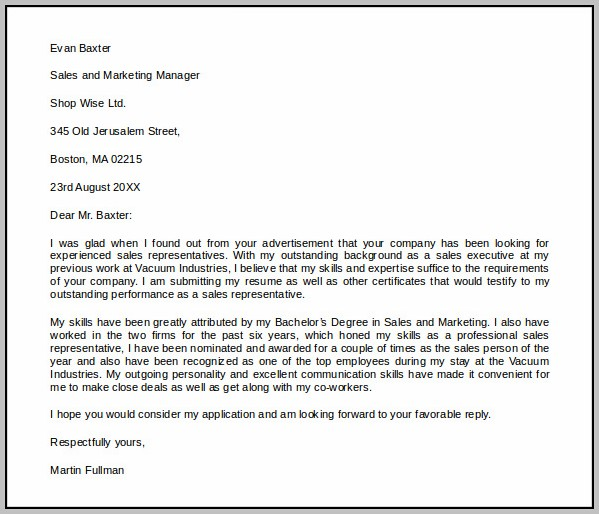Free Cover Letter Template Microsoft Word