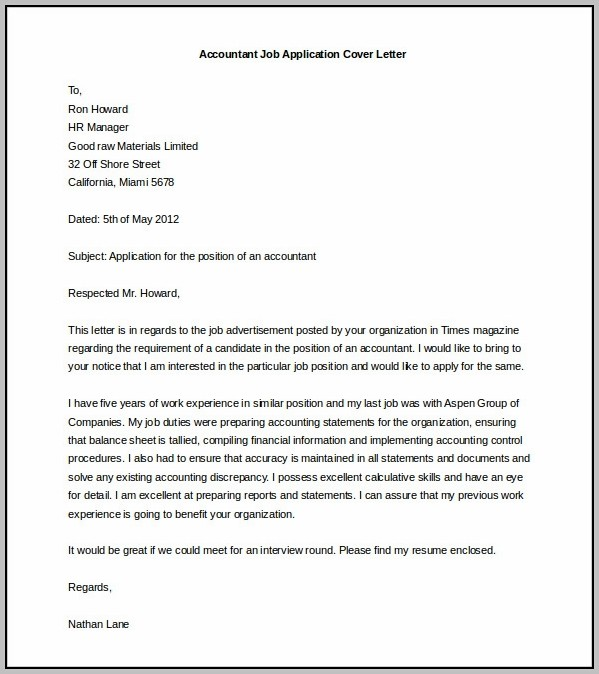 Free Cover Letter Template Word 2010