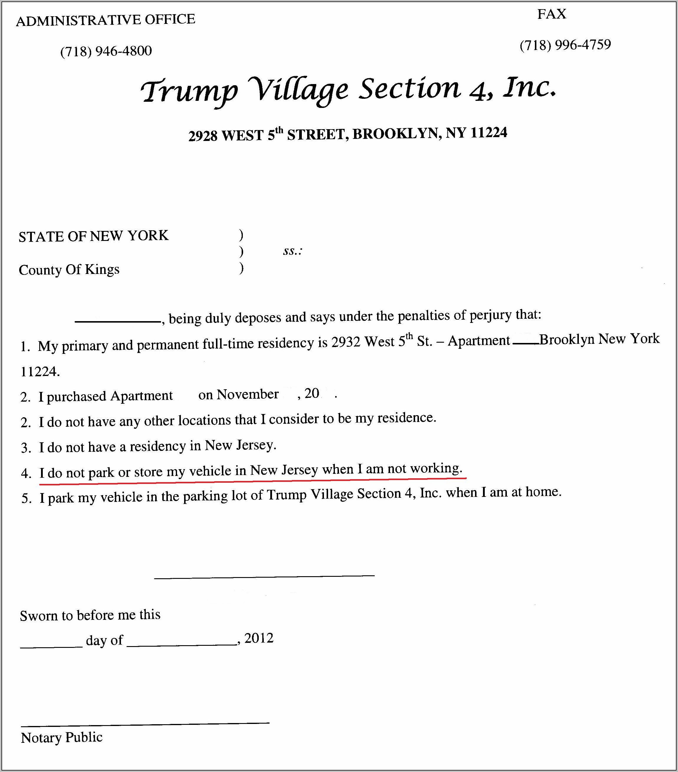 Free Eviction Notice Template New York