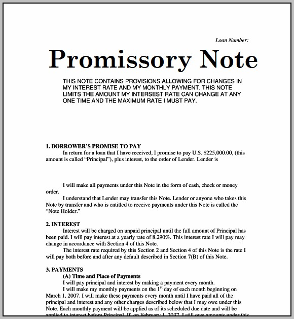 Promissory Note Format As Per Indian Law