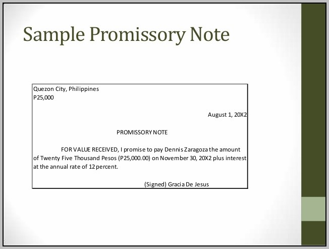 Promissory Note Sample Philippines