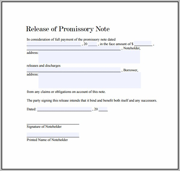 Promissory Note Sample To Pay Debt