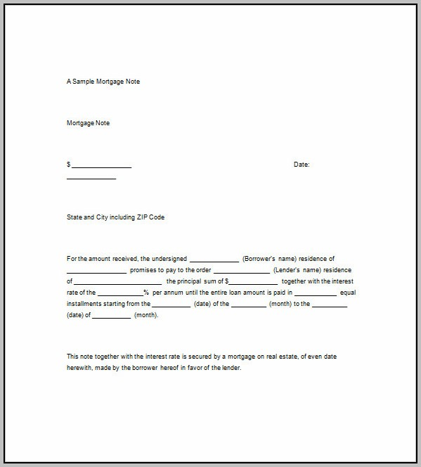 Promissory Note Template Borrowing Money