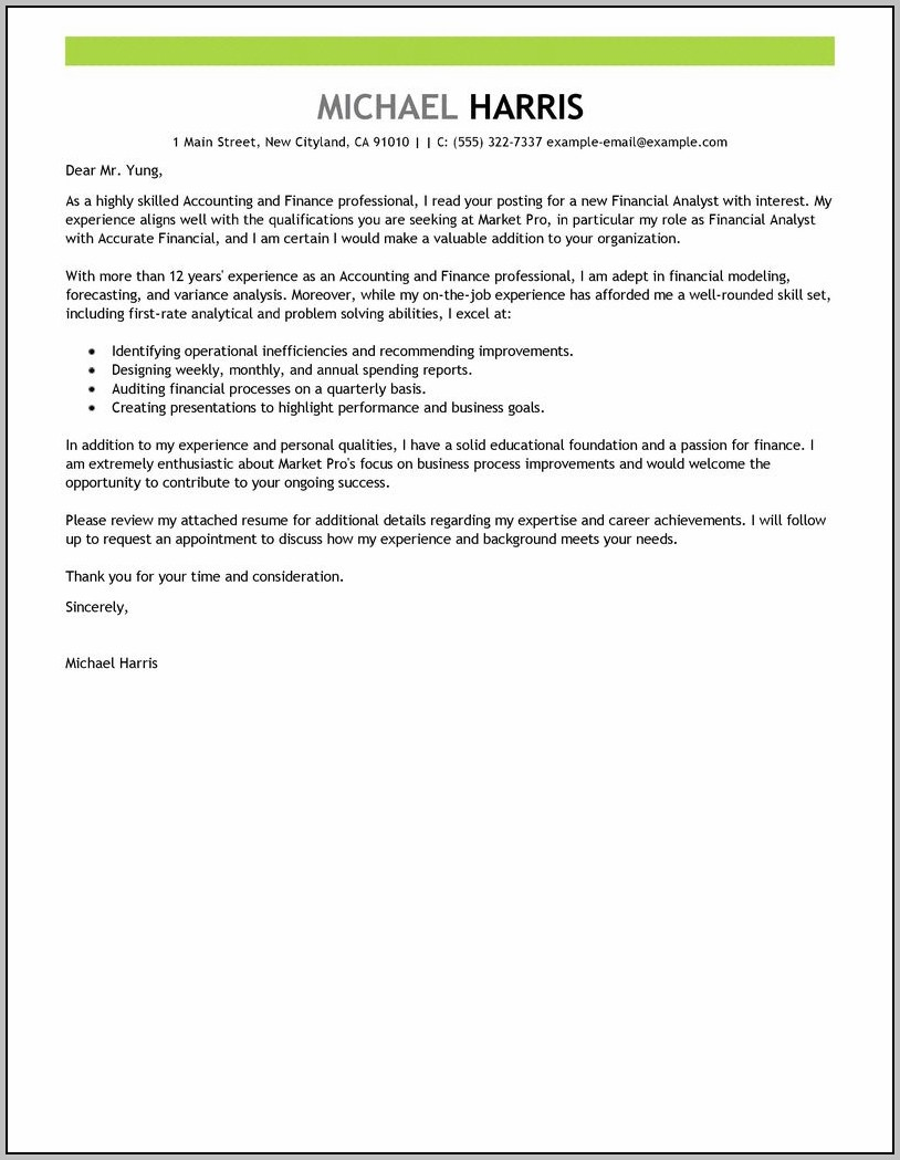 Sample Cover Letter For English Language Teacher