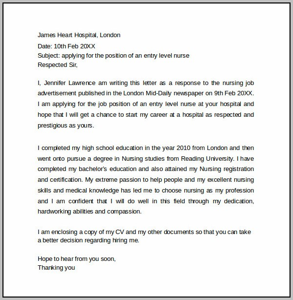 Sample Cover Letter For Fresh Graduate Teacher