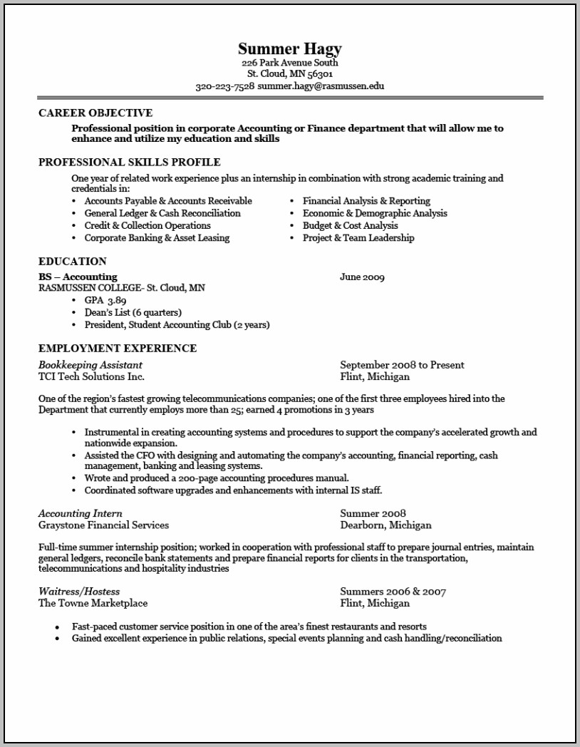 Great Resume Example Examples Of Good Resumes That Get Jobs Regarding 89 Exciting Example Of A Simple Resume