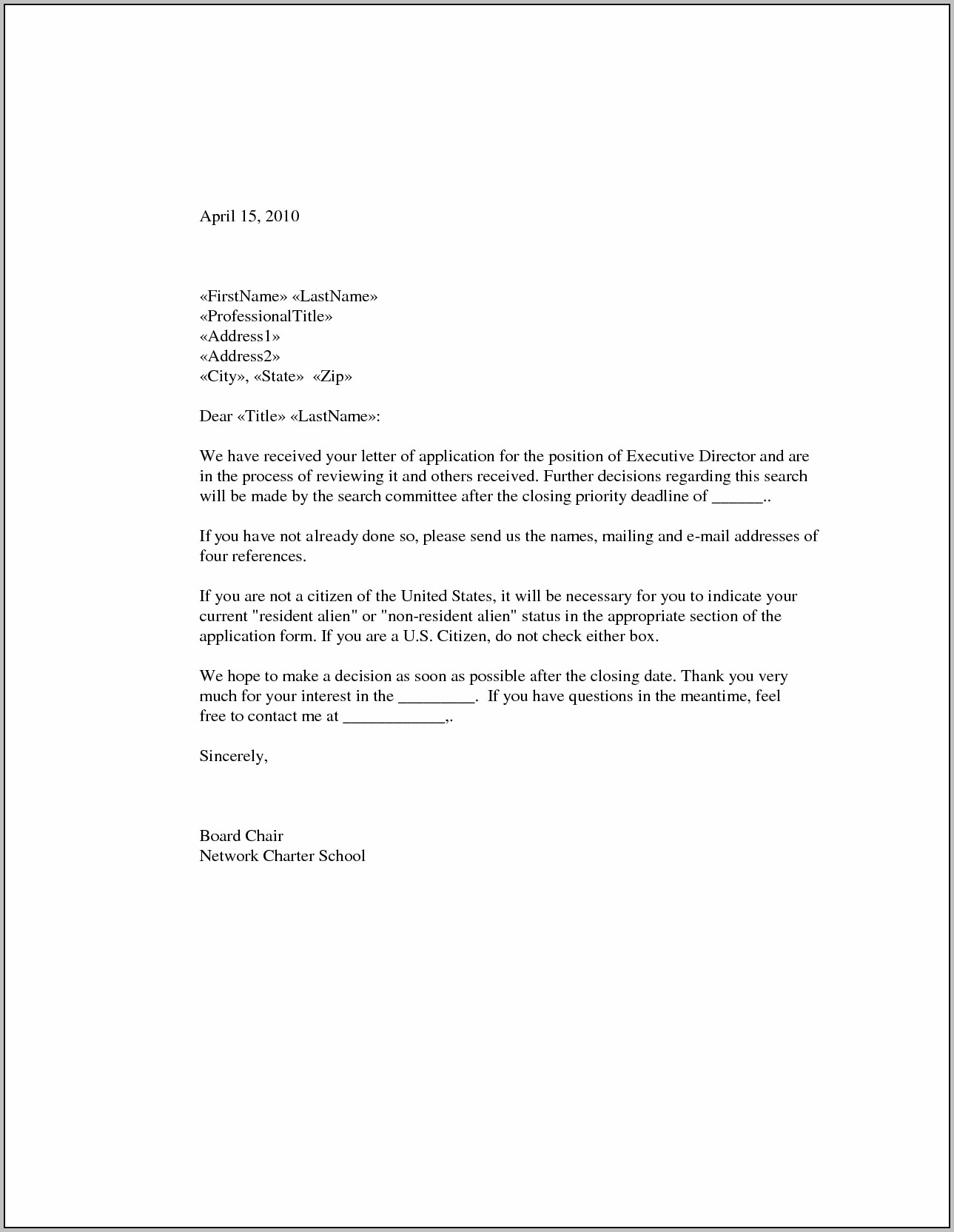 Sample Cover Letter For Graduate Teaching Position