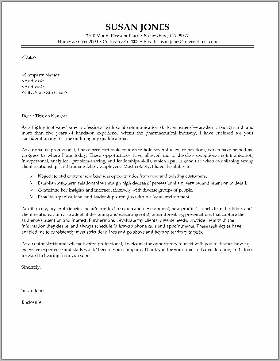 Sample Cover Letter For Resume Canada
