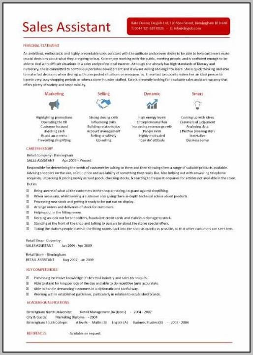 Sample Cover Letter For Resume Retail Sales