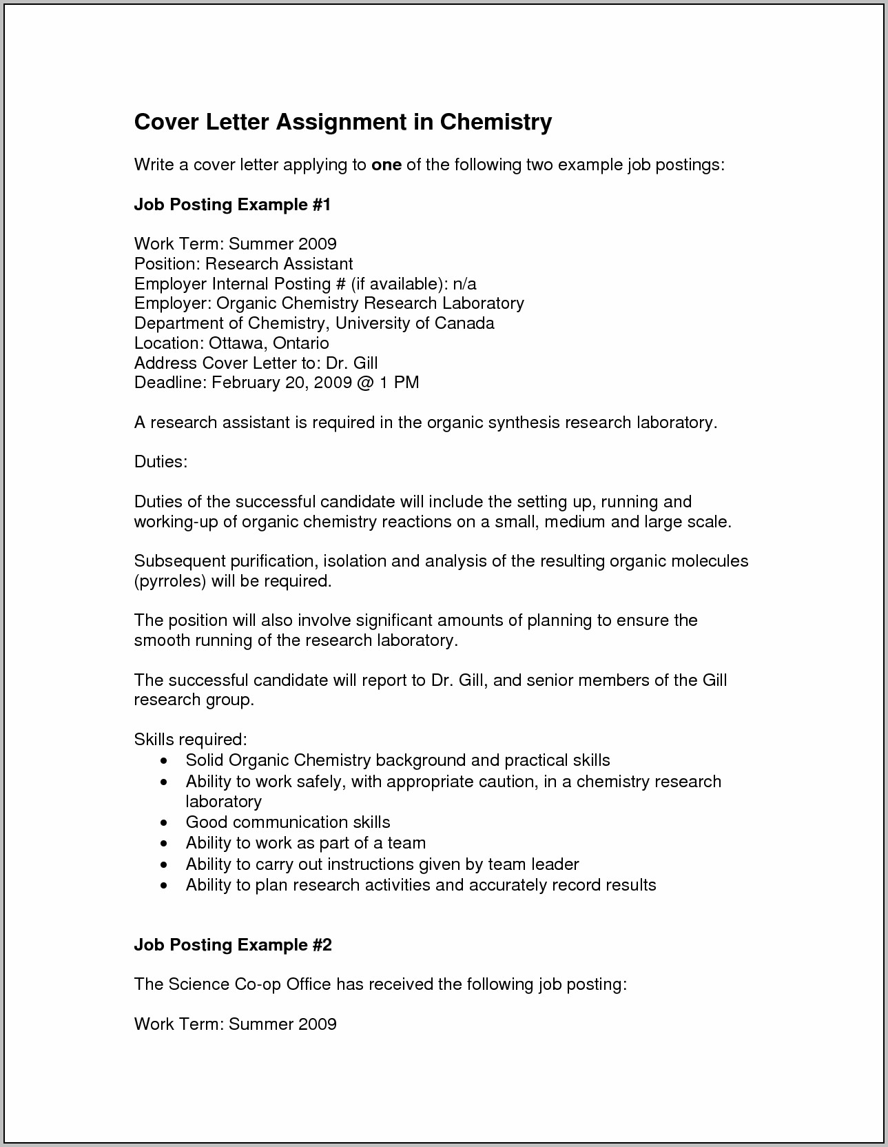 Sample Cover Letter For Science Teaching Position