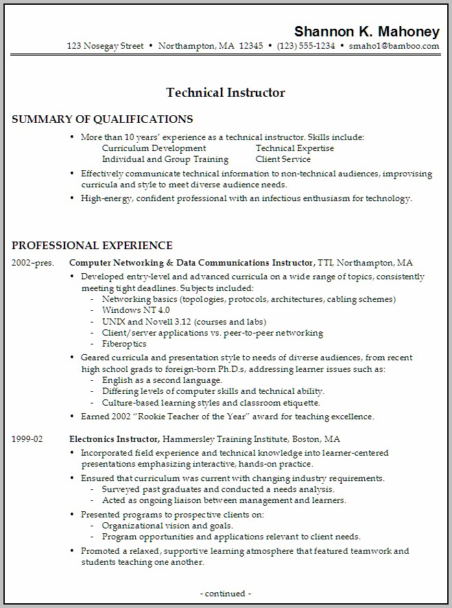 Sample Cover Letter For Teaching In College