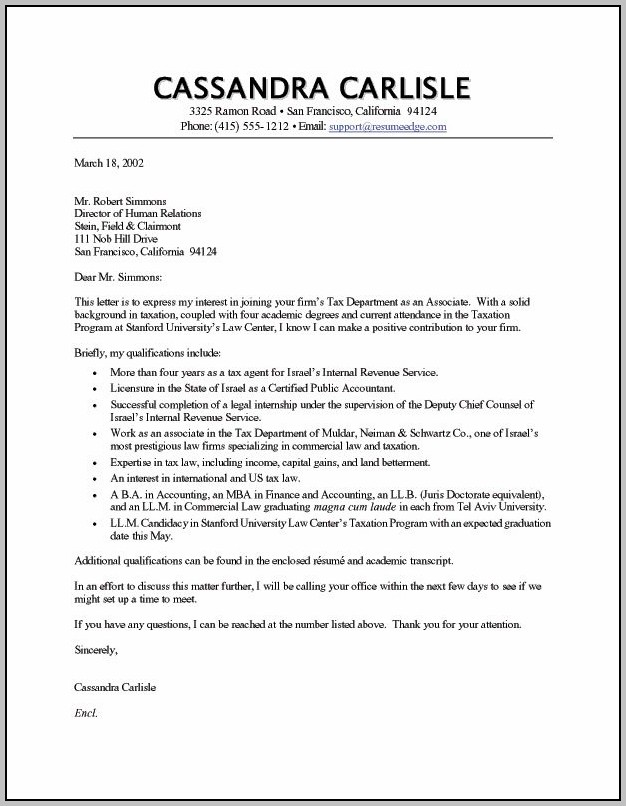 Sample Cover Letter For Teaching Position In College