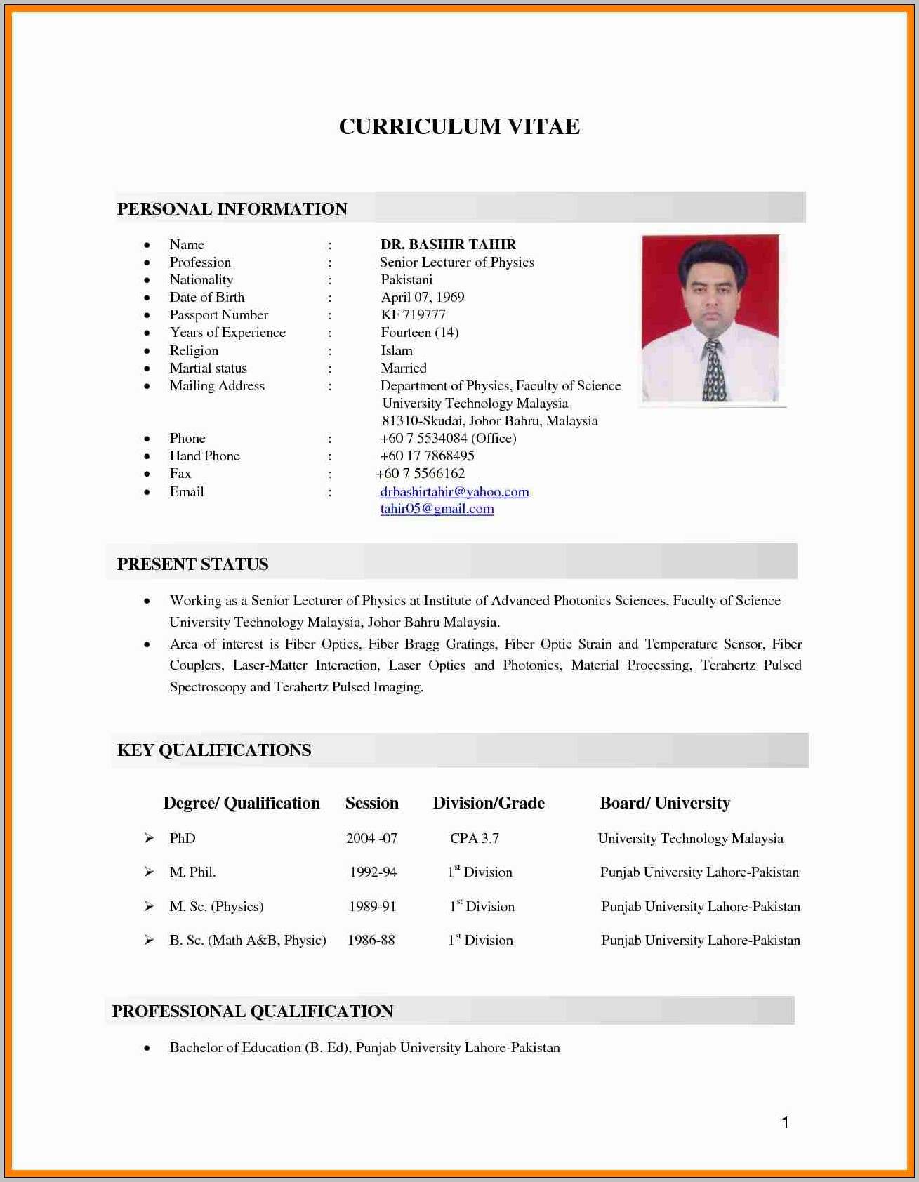 Sample Of Cover Letter For Resume In Malaysia