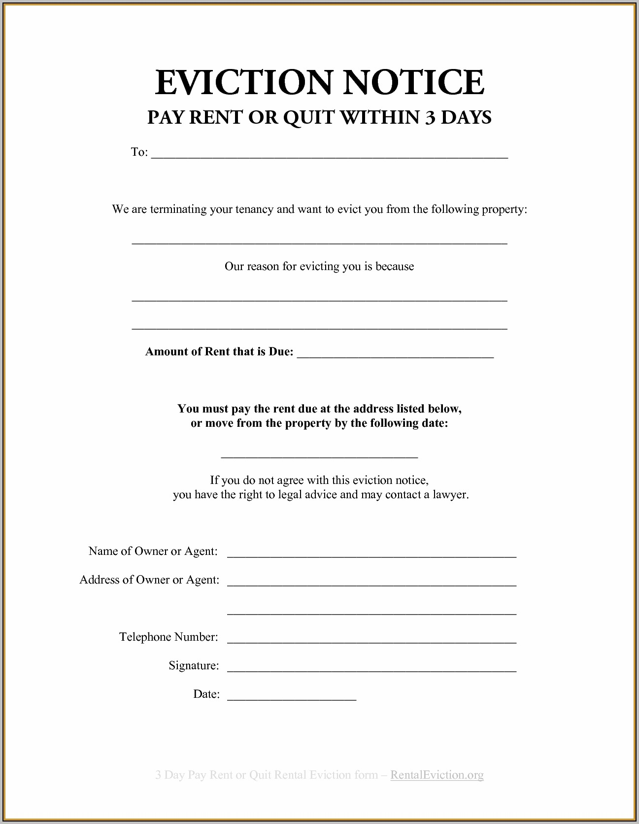 Section 21 Eviction Notice Template Free