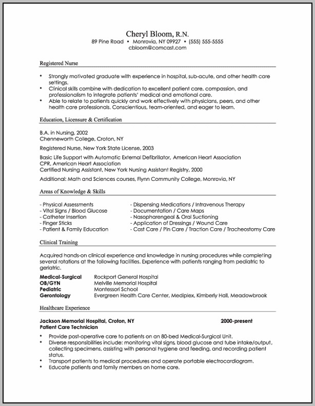 3 Types Of Resume Sample
