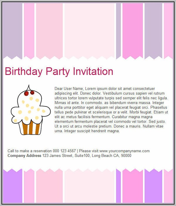 Birthday Invitation Html Template