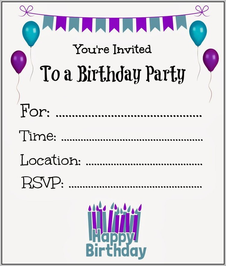 Birthday Invitation Maker App