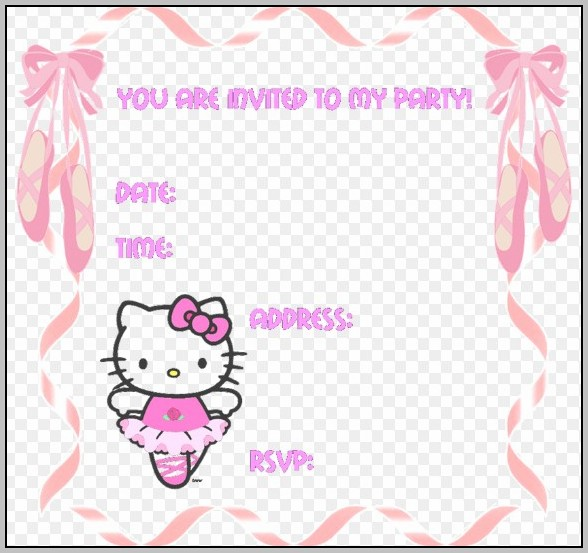 Birthday Invitation Maker Hello Kitty