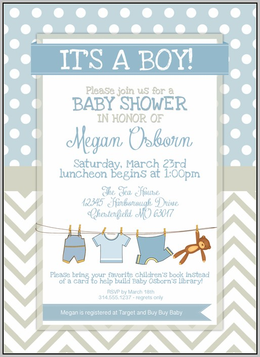 Birthday Invitation Template For Baby Boy