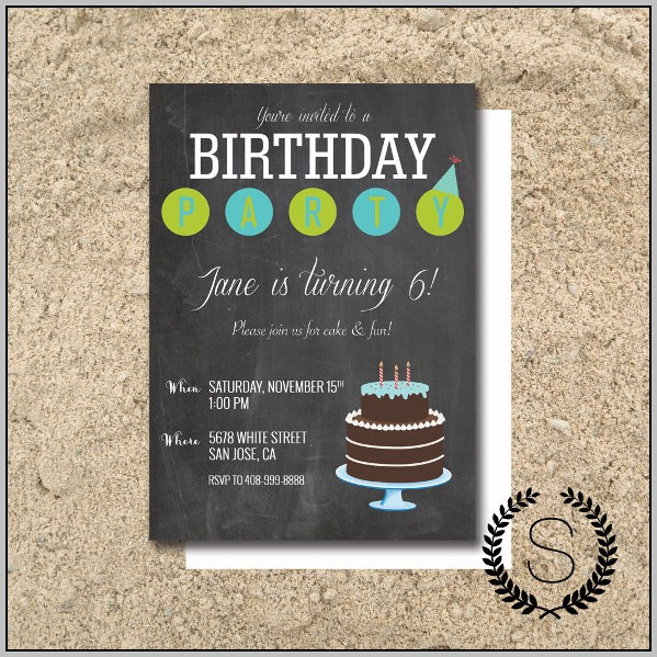 Birthday Invitation Template Indesign