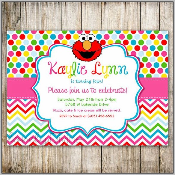 Birthday Invitation Template Rainbow