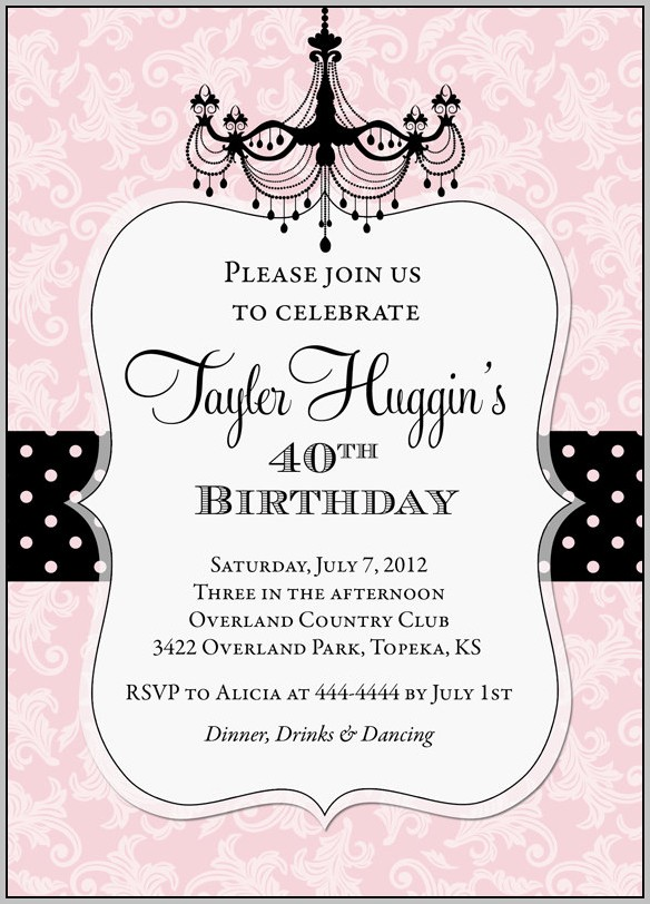Birthday Invitation Templates For Adults