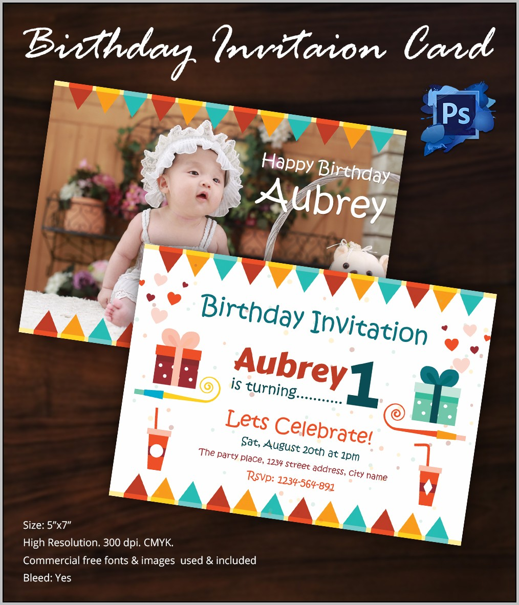 Birthday Invitation Templates Free Photoshop