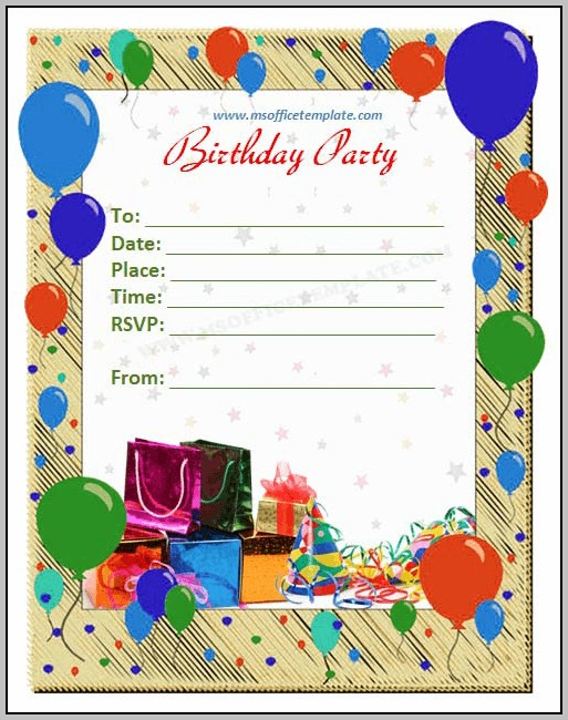 Birthday Invitation Templates Powerpoint