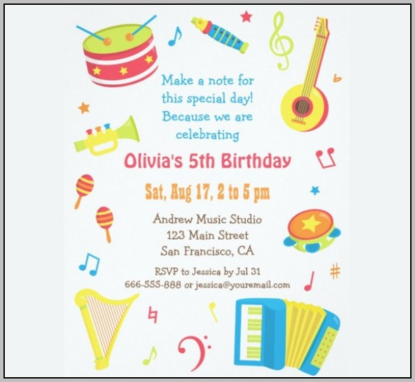 Birthday Party Invitation Templates Nz