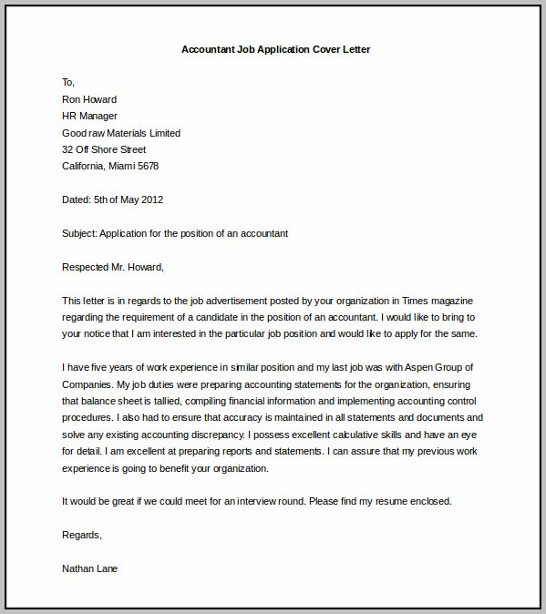 Blank Cover Letter Templates Free