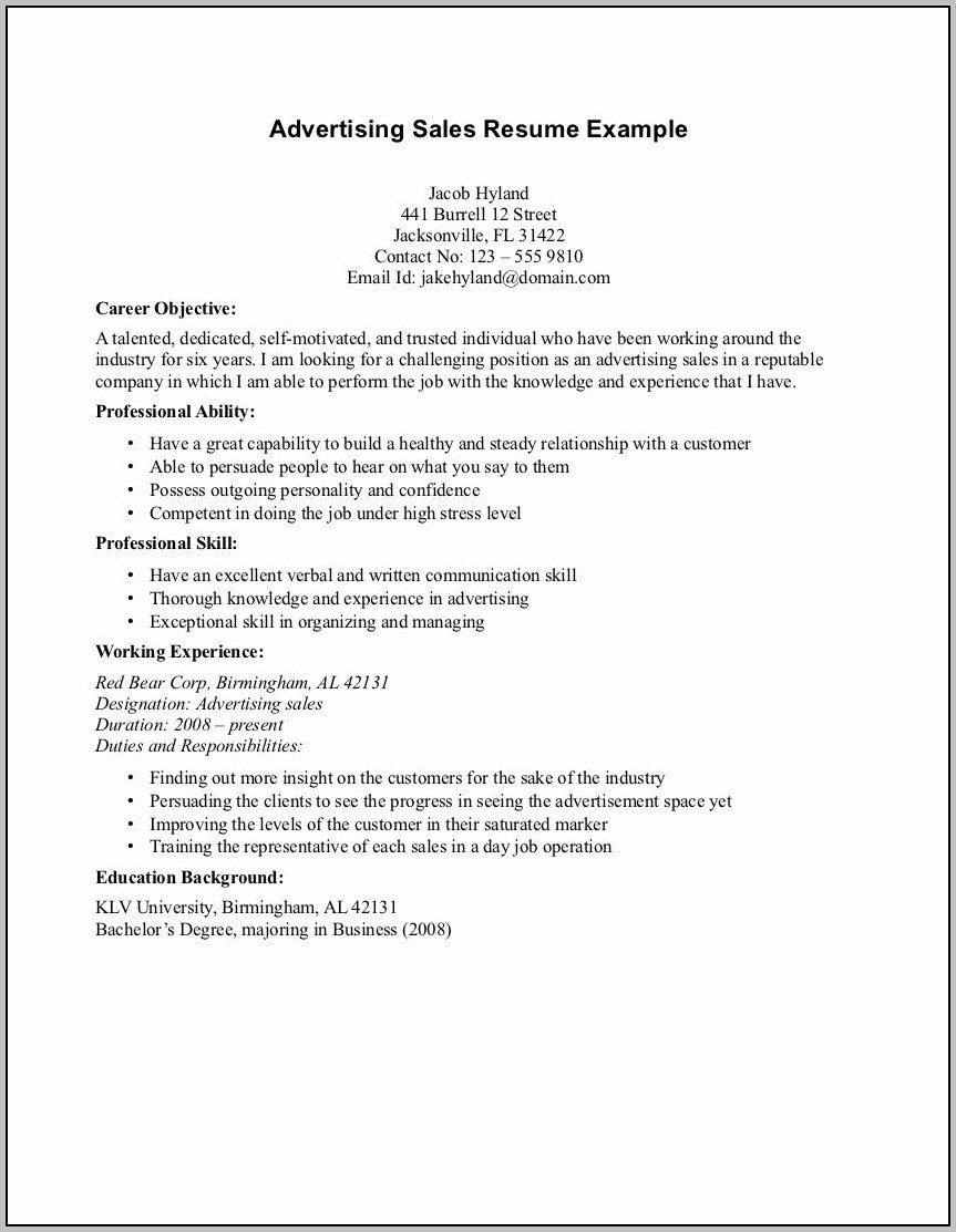 Cover Letter Career Objective Examples