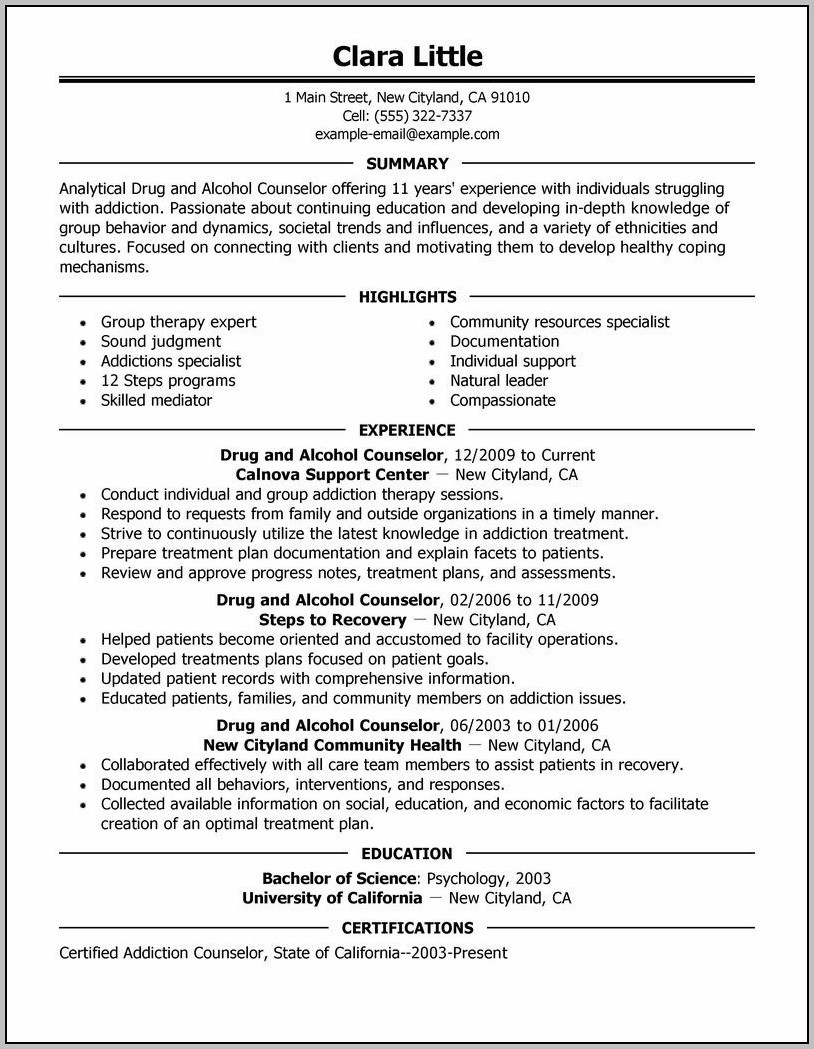 Cover Letter Examples For Career Counselor