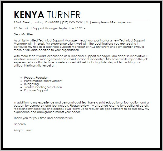 Cover Letter For Help Desk Officer