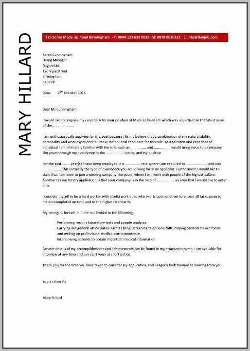Cover Letter For Medical Resume Examples