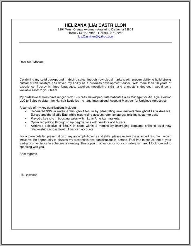 Cover Letter Help 2015